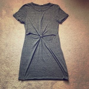 Honey Punch Gray Cut Out Dress